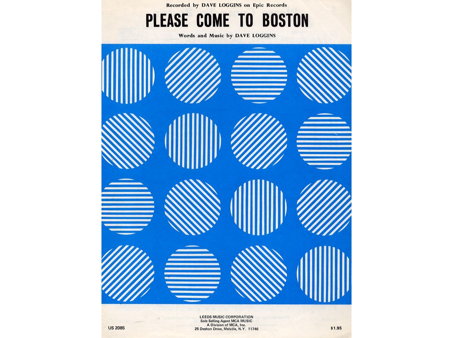 Please Come to Boston - Song - Recorded by Dave Loggins only £10.00
