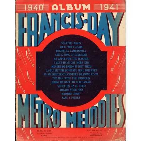 Francis Day Metro Melodies - 1940 to 1941 Album