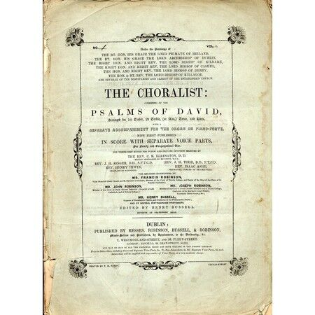The Choralist Consisting Of The Psalms Of David Volume 1 No 2