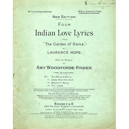 Four Indian Love Lyrics - from the Book of poems entitled \