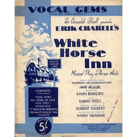Vocal gems words and music white horse inn musical play in three vocal gems words and music white horse inn musical play in three acts only 1600 stopboris Gallery
