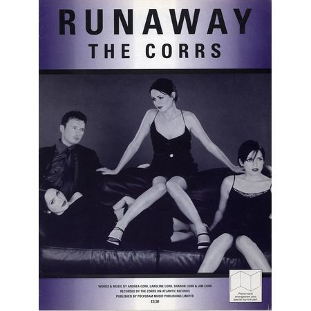 Runaway - Recorded by The Corrs on Atlantic Records - For Piano and Vocal  with Guitar Chords