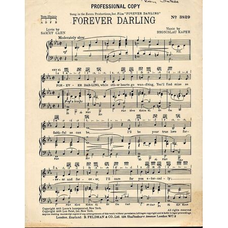 Forever Darling For Piano And Voice With Ukulele Chord Symbols