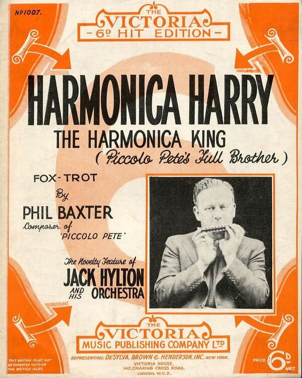Harmonica Harry The Harmonica King For Piano And Voice With