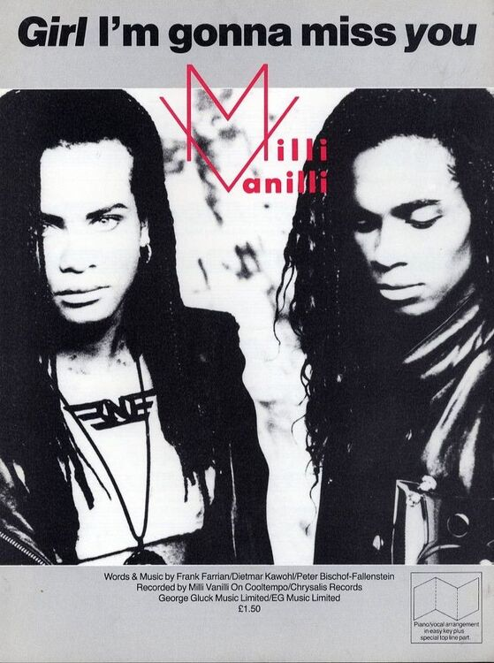 Girl I\'m gonna miss you - Recorded by Milli Vanilli on Chrysalis ...