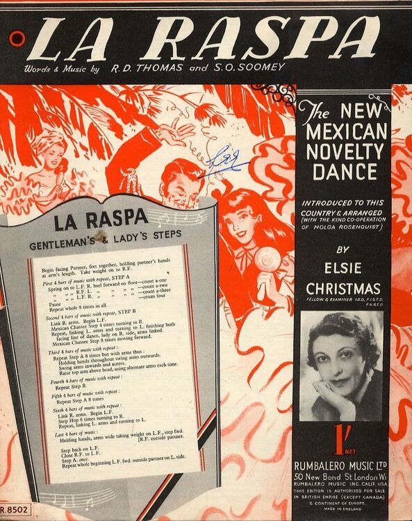 La Raspa - The new Mexican novelty dance - For Piano and Voice with chord  symbols - With instructions to the steps