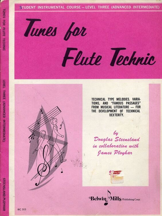 Tunes for Flute Technic - Level Three (Advanced Intermediate) - Technical  type melodies, variations and famous passages from musical literature for th