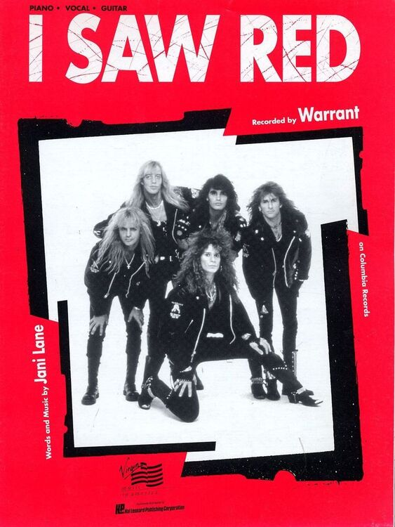 I Saw Red - Featuring Warrant - Piano - Vocal - Guitar