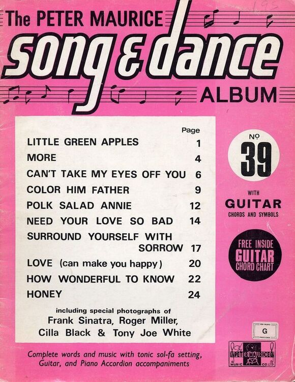 The Peter Maurice Song and Dance Album No. 39 - With Guitar Chords ...