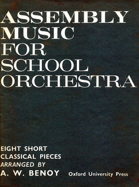 Assembly Music For School Orchestra - Eight Short Classical Pieces