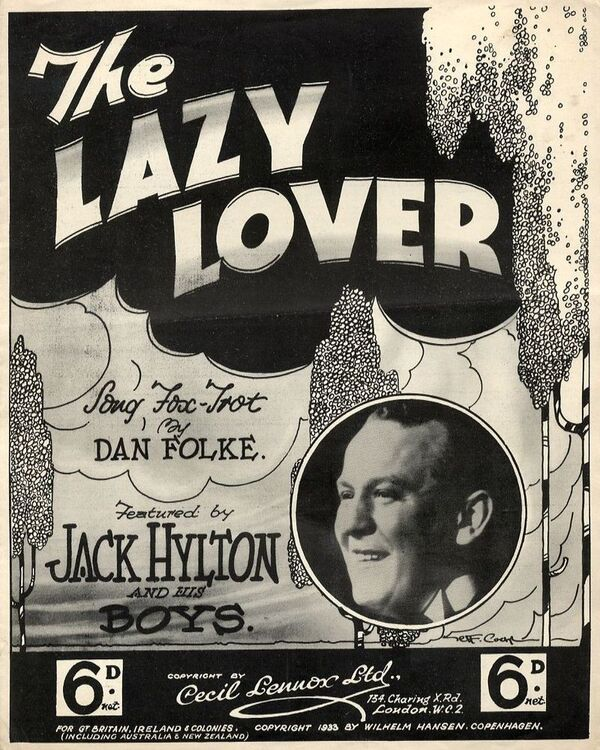 The Lazy Lover Featured By Jack Hylton And His Boys For Piano