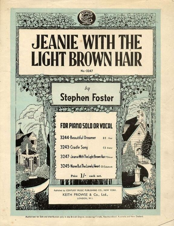 Jeanie with the Light Brown Hair - Song - In the key of F major