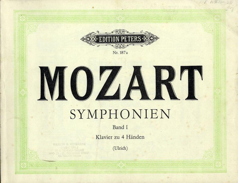 Mozart - Symphonies - Band 1 - Piano Duet - Edition Peters No  187a