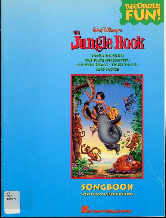 Walt Disney S The Jungle Book Recorder Fun Songbook With Easy