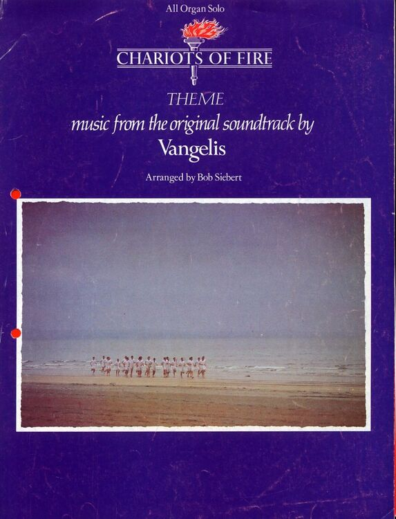 Chariots of Fire -Theme, easy piano arrangement: Vangelis, picture from  film runners on the beach
