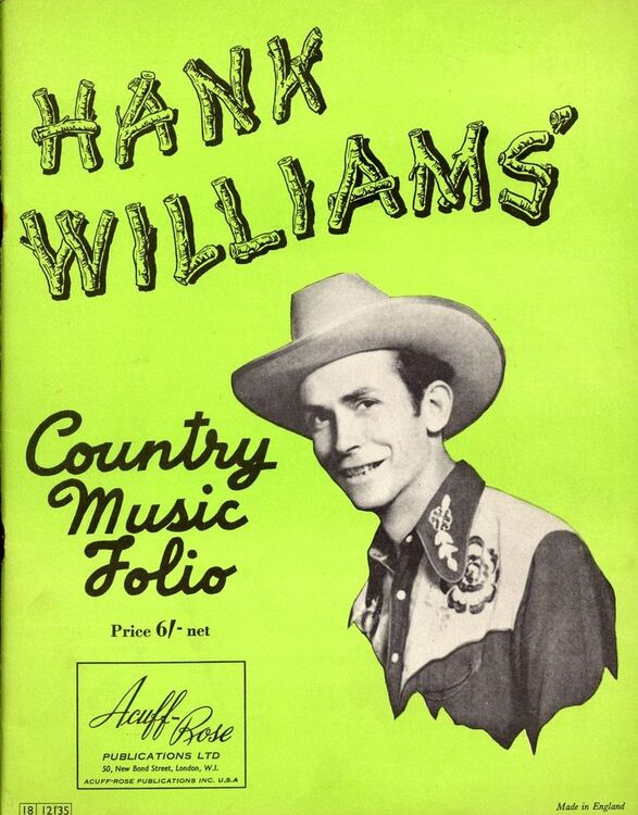 Hank Williams Country Music Folio For Piano And Voice With Guitar