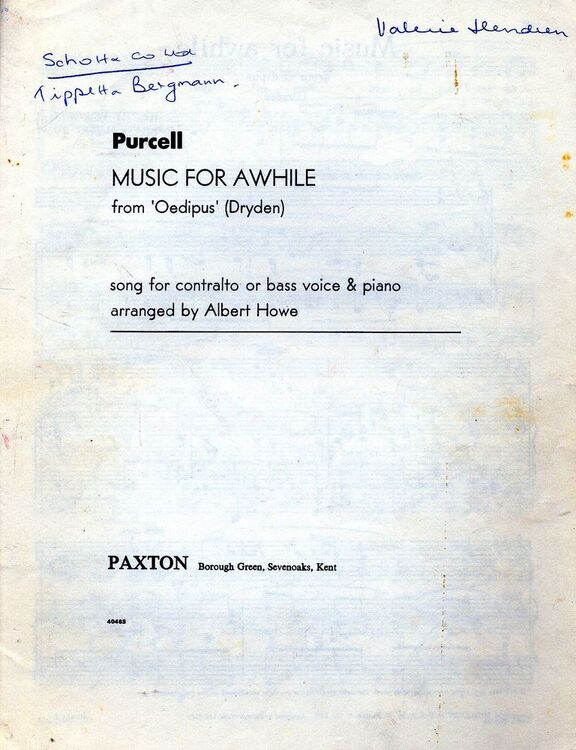 Music for Awhile - from