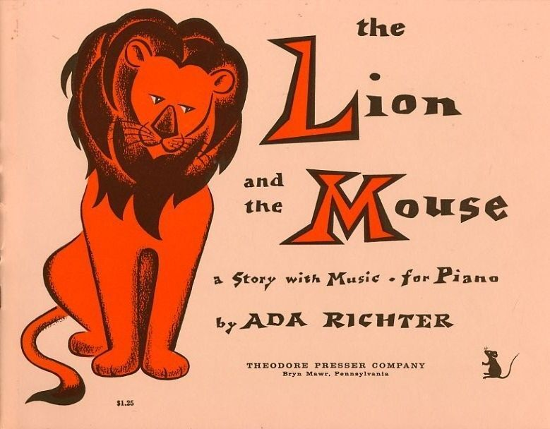 The Lion and the Mouse - A Story with Music - For Piano