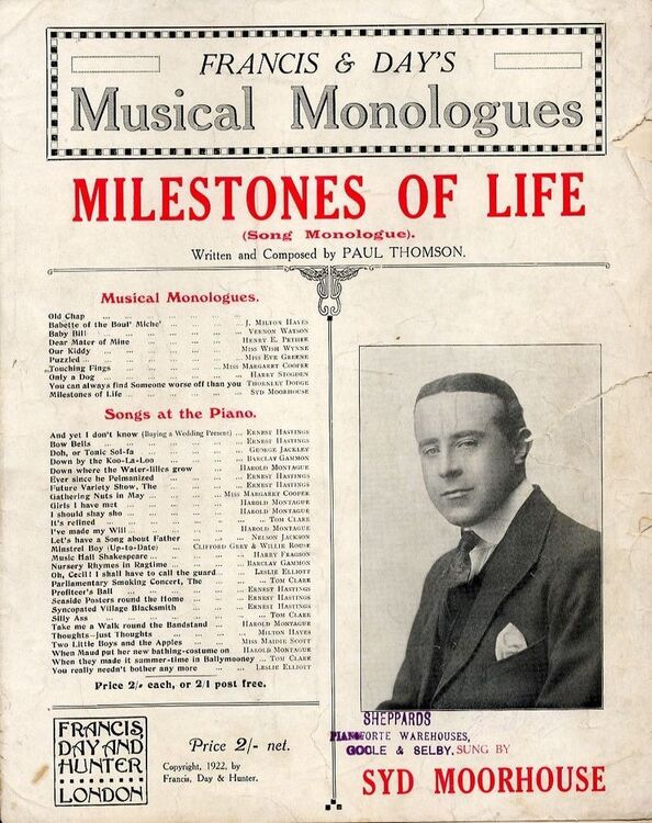 Milestones of Life (Song Monologue) - Francis and Days Musical Monologues  Series - For Piano and Voice