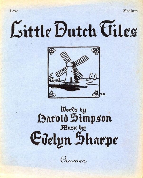 Little Dutch Tiles - Songs of Holland - For Medium voice