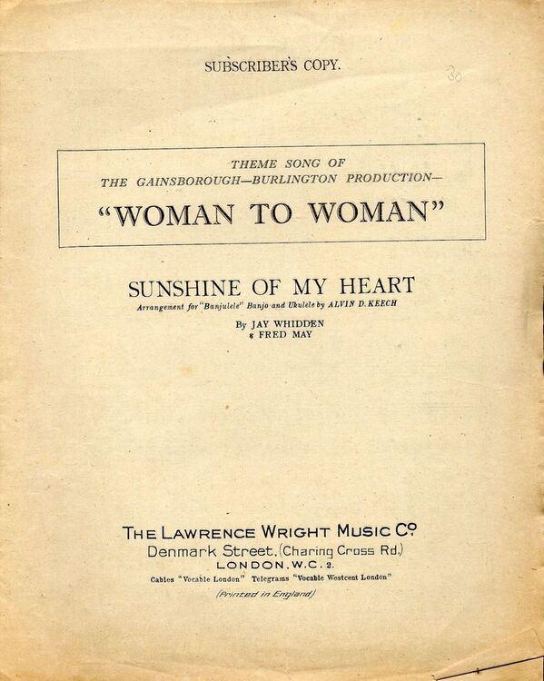 sunshine of my heart from woman to woman professional copy