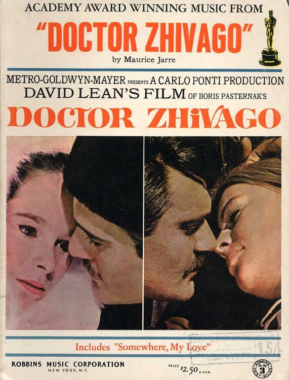 Academy Award Winning Music From Doctor Zhivago For Piano With
