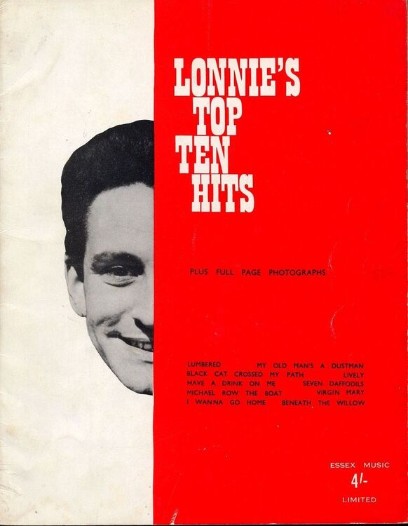 Lonnies Top Ten Hits For Piano With Chord Names And Melody Line