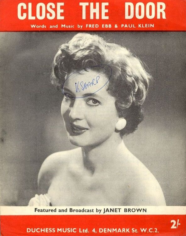 sc 1 st  Sheet Music Warehouse & Close the Door - Song - Featuring Janet Brown only £8.00