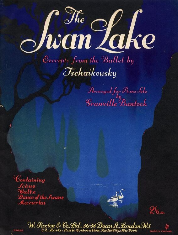 The Swan Lake  Excerpts from the Ballet by Tschaikowsky  Containing Scene,  Waltz, Dance of the Swans and Mazurka