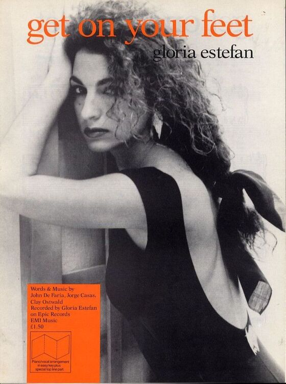 Get on your feet - Recorded by Gloria Estefan - For Piano and Voice ...