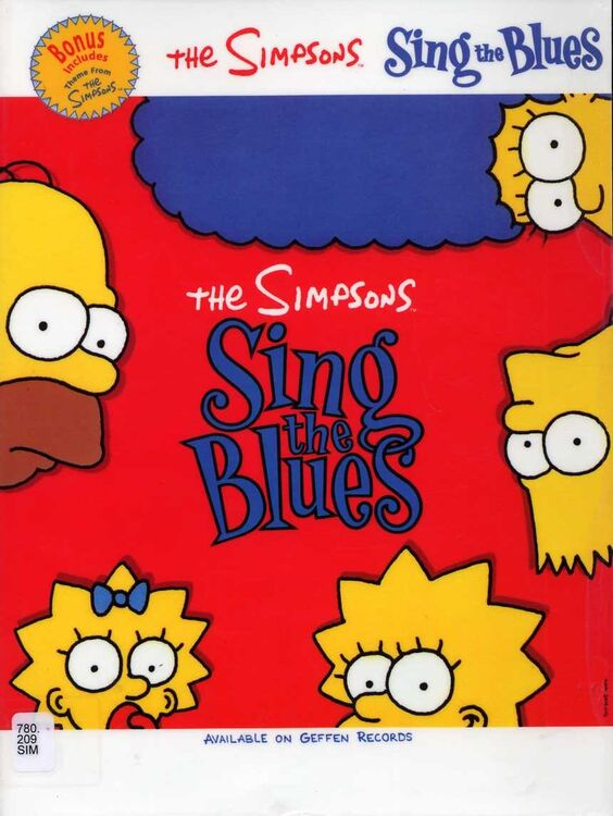 The Simpsons Sing The Blues For Voice And Piano With Guitar Chords