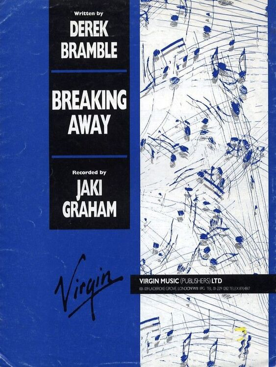 Breaking Away - Recorded by Jaki Graham - For Piano and Voice with ...