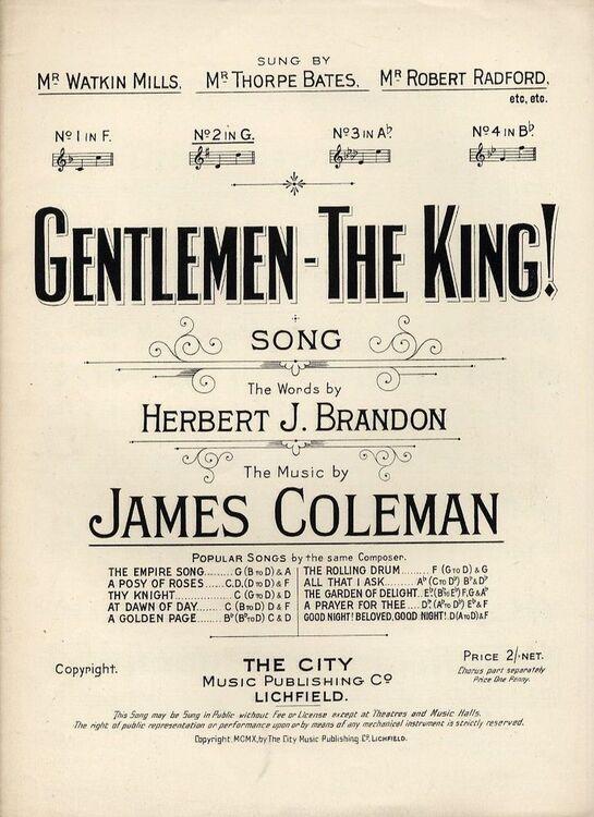Gentlemen - The King - Key G major