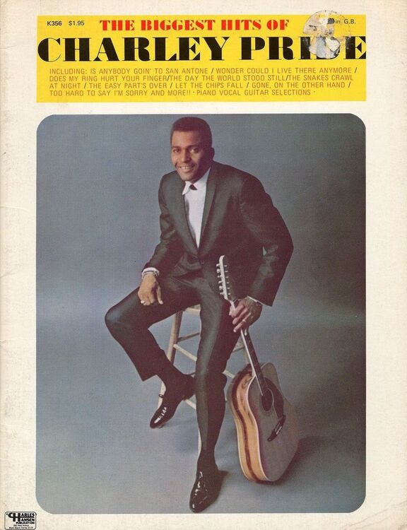 The Biggest Hits of Charley Pride - For Piano and Vocal with Guitar ...