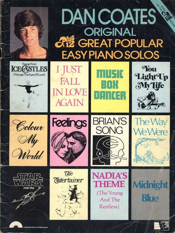 Dan Coates Original Plus 12 Great Popular Easy Piano Solos For