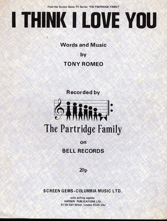 I Think I Love You - The Partridge Family on Bell Records - From the Screen  Gems TV Series