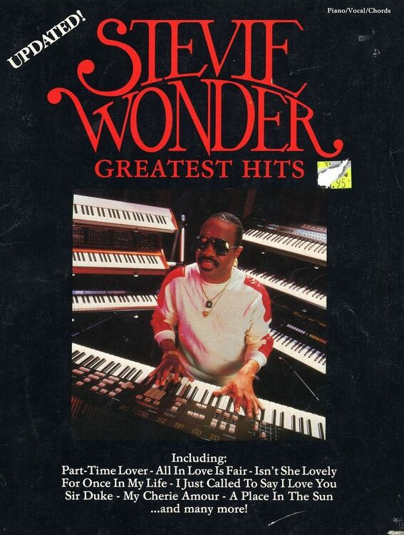 Stevie Wonder - Greatest Hits - Updated - For Piano and Vocal with ...