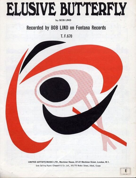 Elusive Butterfly - Recorded by Bob Lind on Fontana Records T. F. ...