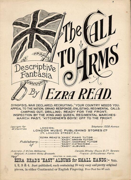 The Call To Arms - Descriptive Fantasia for Pianoforte