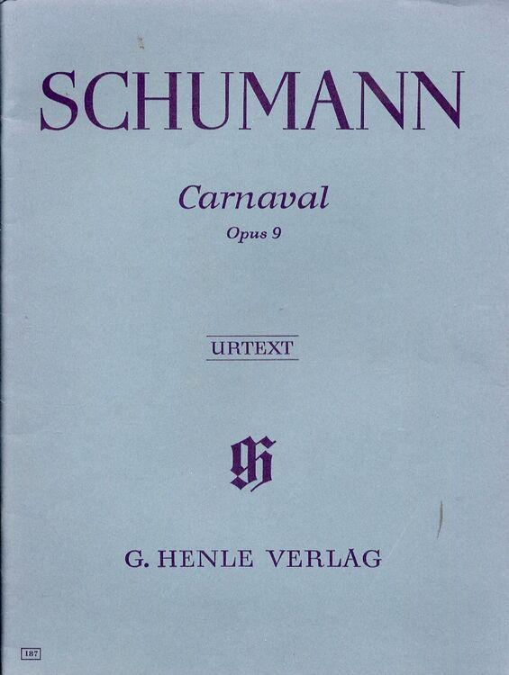 Schumann - Carnaval - For Piano - Op  9 - Urtext Edition