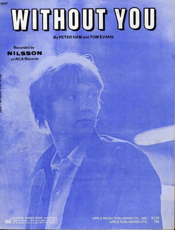 Without You Recorded By Nilsson On Rca Records For Piano And
