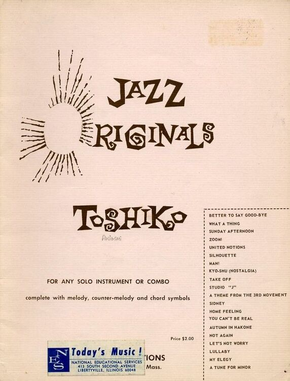 Jazz Originals For Instrument Or Combo Complete With Melody