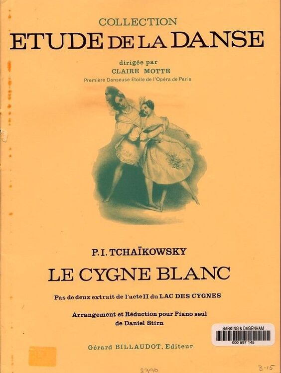Le Cygne Blanc - Collection Etude De La Danse - Piano Solo