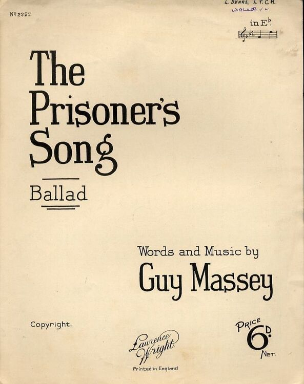 The Prisoners Song Ballad For Piano And Voice With Ukulele