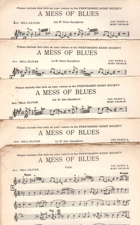 DANCE BAND with Vocals:- A MESS OF BLUES