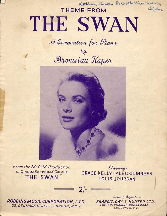 Theme from 'The Swan' - Piano Solo - Featuring Grace Kelly