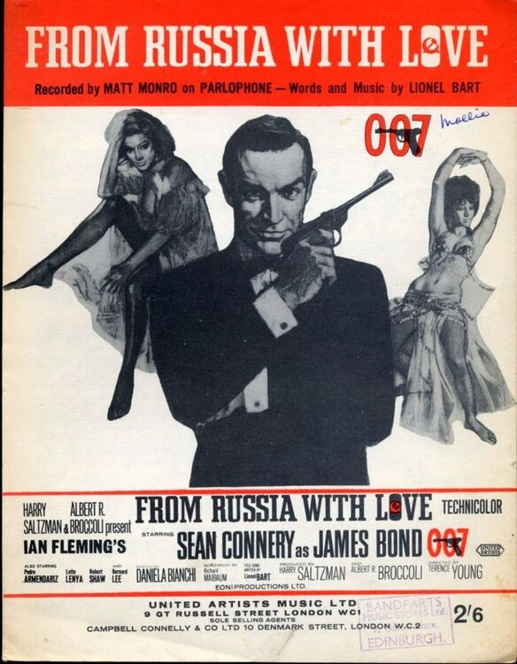 From Russia With Love - Song - James Bond theme from Film - As performed by  Matt Munro featuring Sean Connery