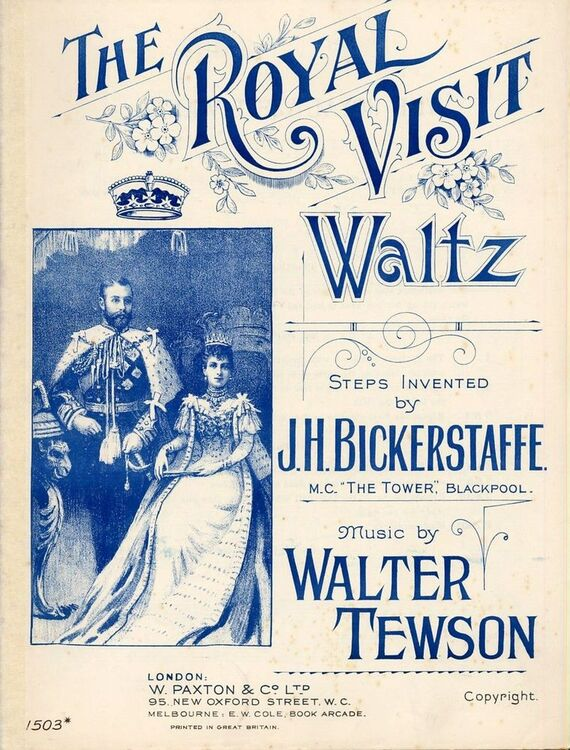 The Royal Visit - Waltz for Piano Solo - Paxton edition No  1503