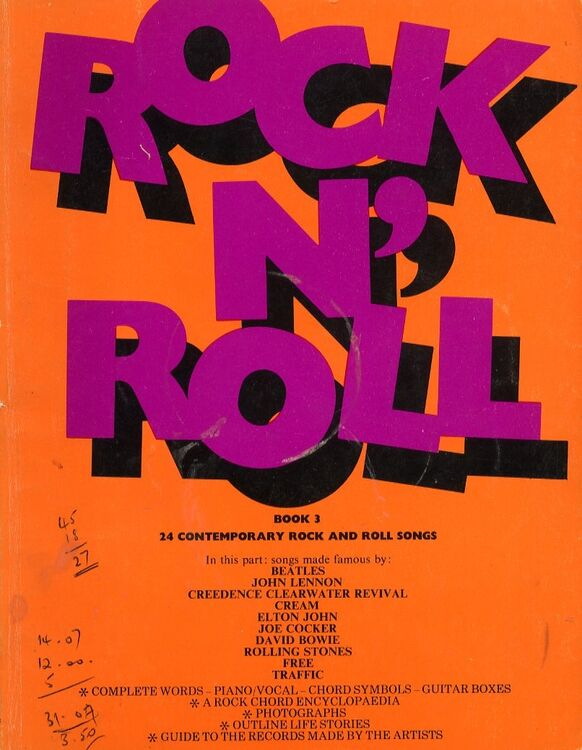 Rock n\' Roll - Book 3 - 24 Contemporary Rock and Roll Songs Complete ...
