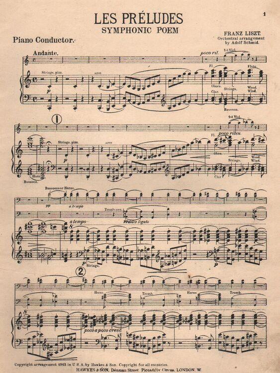 Les Preludes Symphonic Poem